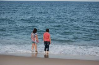 Enjoying a day at the beach. Assateague Island, MD